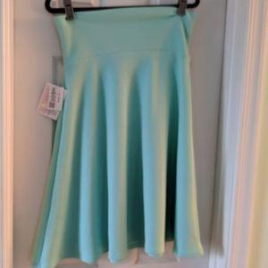 NWT Lularoe Azure skirt in seafoam. Sz m